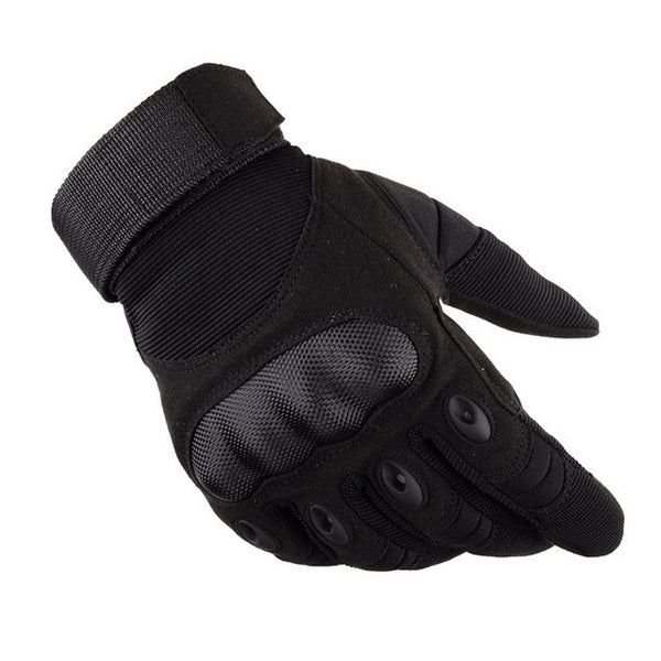 Outdoor Tactical Gloves Full Finger Sports Hiking Riding Cycling Military Men's Gloves Armor Protection Shell Gloves - hustleport