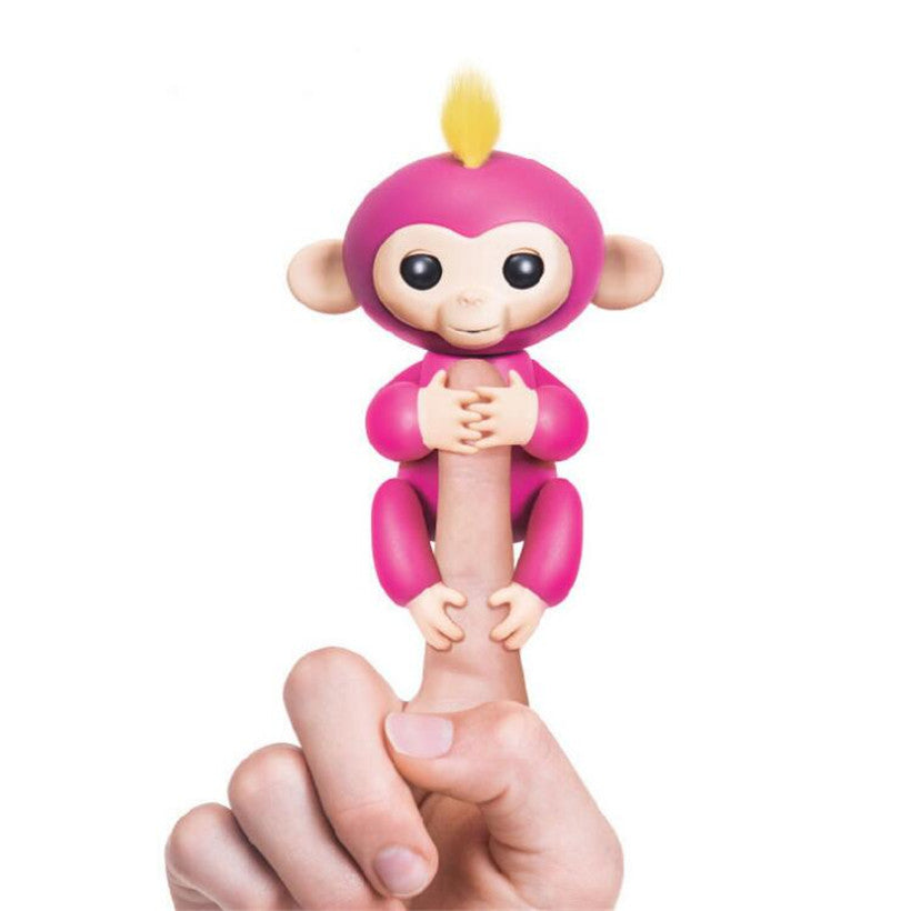 Wowwee Best Funny Interactive Baby Monkeys Colorful Finger Monkey Induction Toys Best Gifts For Kids Random Deliver - hustleport