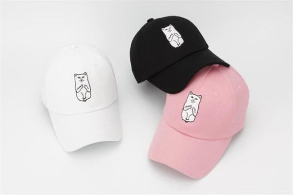 American RIP DIP Finger Cat Embroidery Baseball Caps Men Women Fashion Cotton Hip-Hop Hat - hustleport