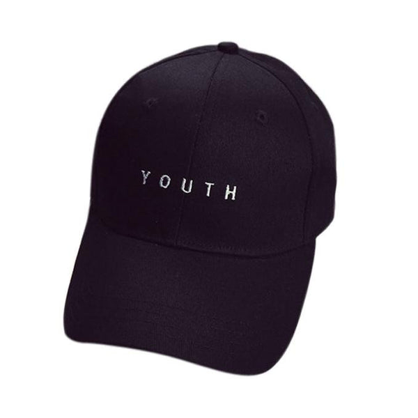 YOUTH Printed Embroidery Cotton Baseball Cap Boys Girls Snapback Hip Hop Flat Hat - hustleport