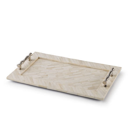 Bone Tray With Bamboo Handles