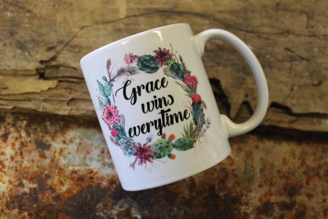 Grace Wins Everytime Mug