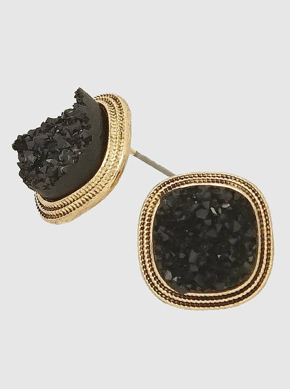 earrings maroon grande accessories stone stud fashion deara products