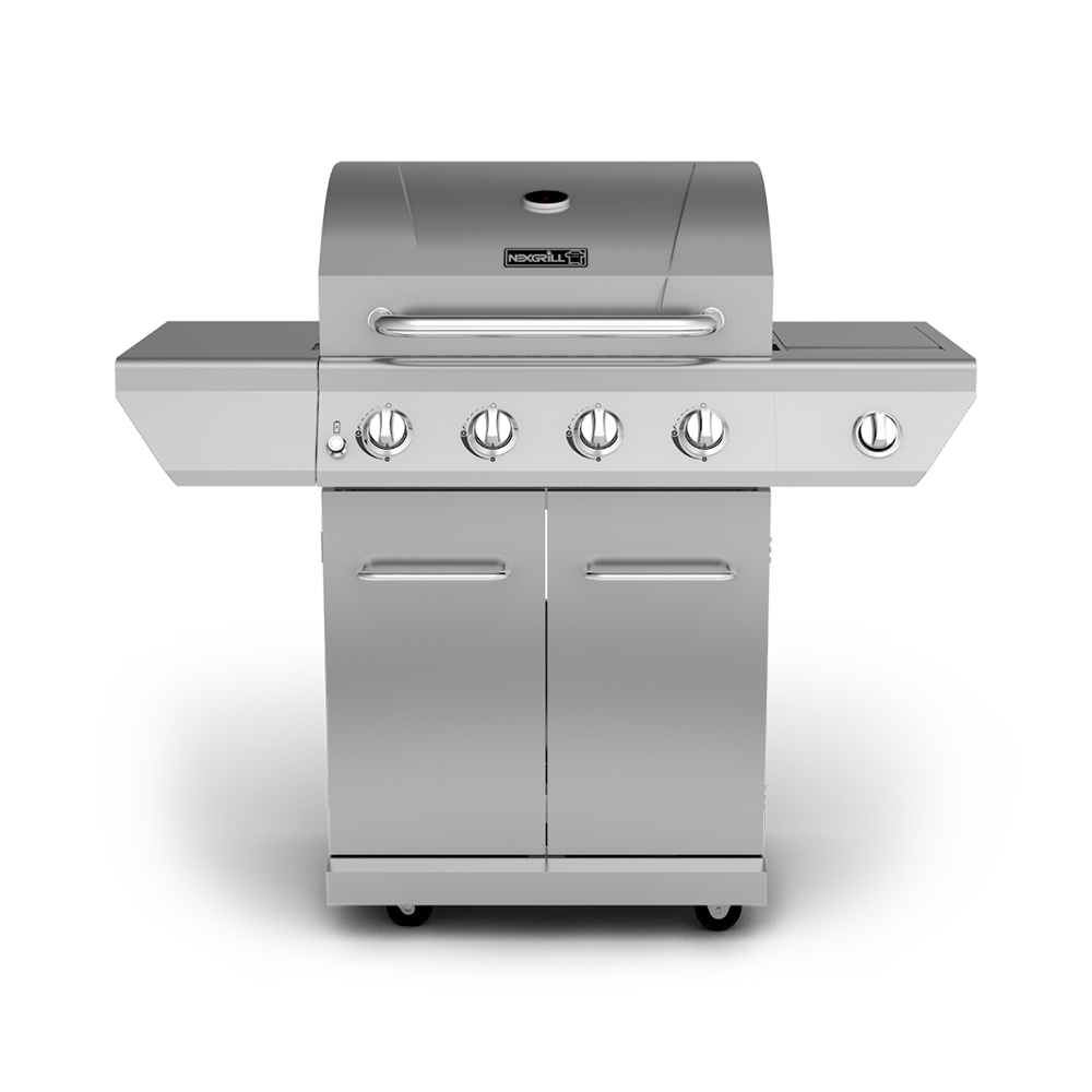 4 Burner Propane Gas Grill With Stainless Steel Side