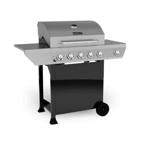 5 Burner Propane Gas Grill with Stainless Steel Side ...