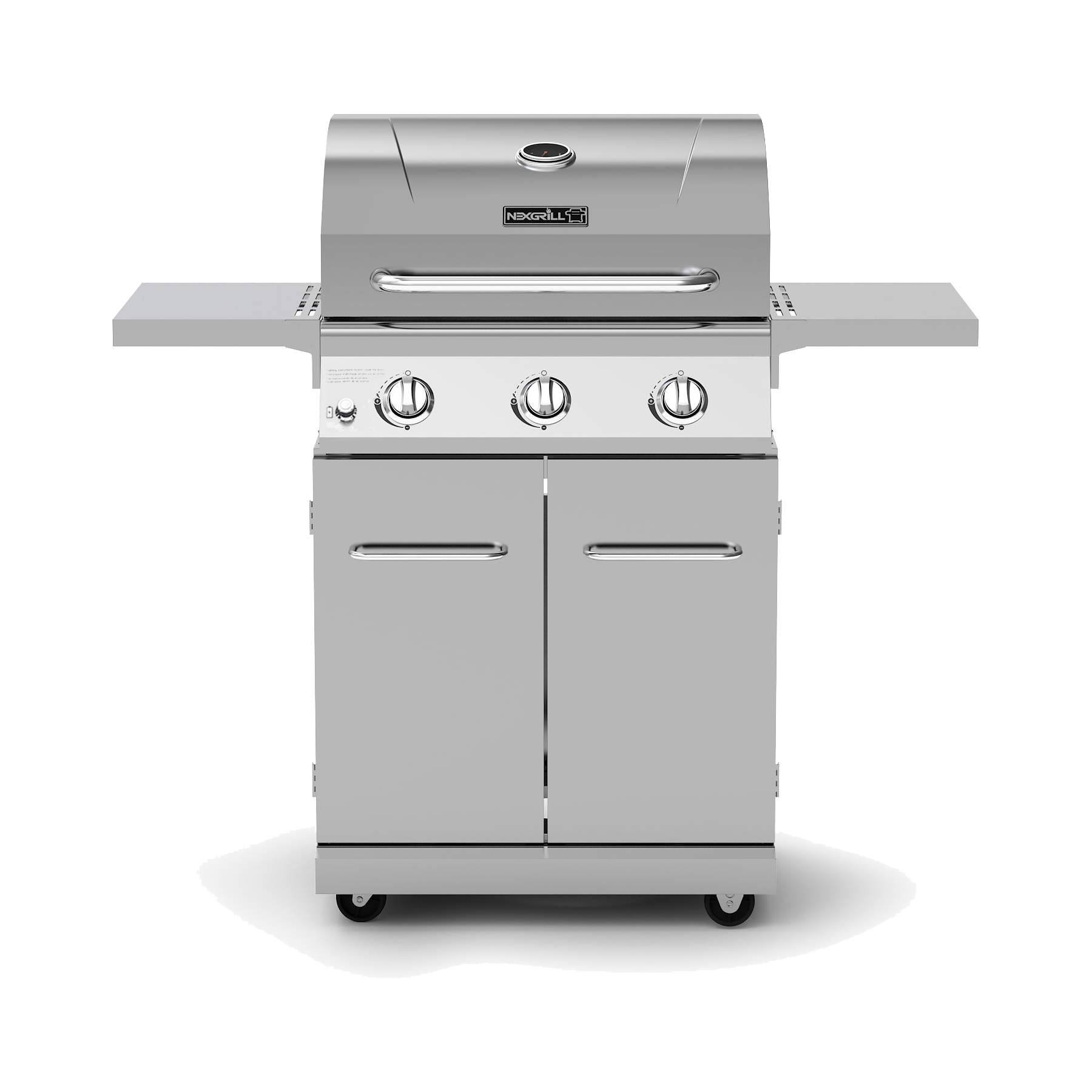 3-Burner Propane Gas Grill in Stainless Steel