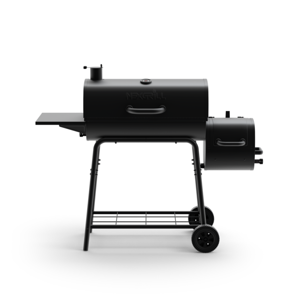 29 in. Barrel Charcoal Grill with Smoker