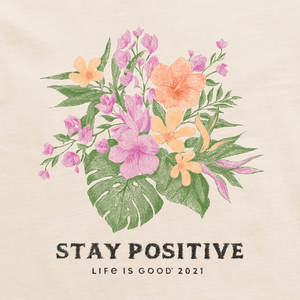 Womens Crusher Stay Positive Flowers (76487)