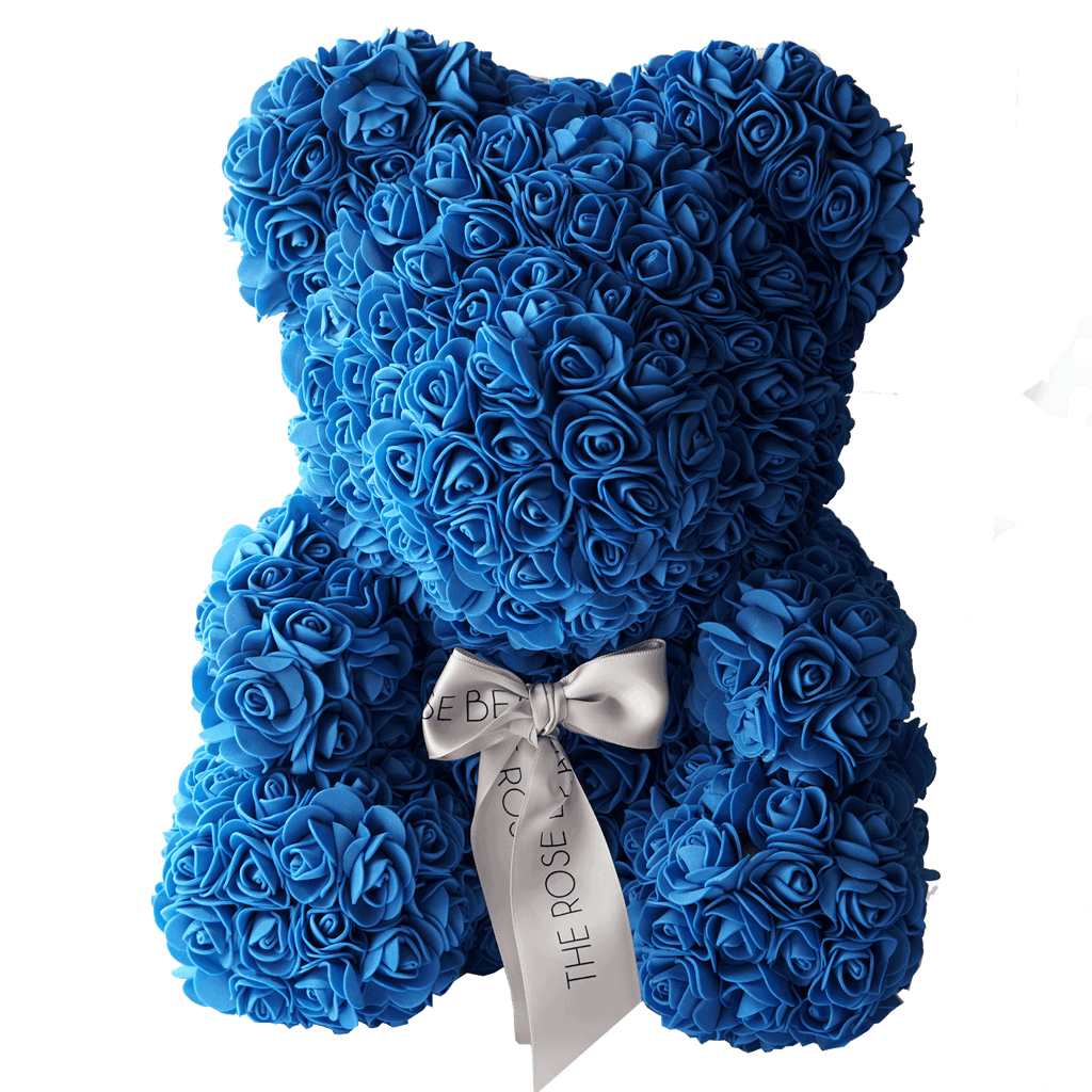 Royal Blue Rose Bear