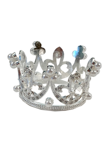 Mini Crystal & Pearl Crown