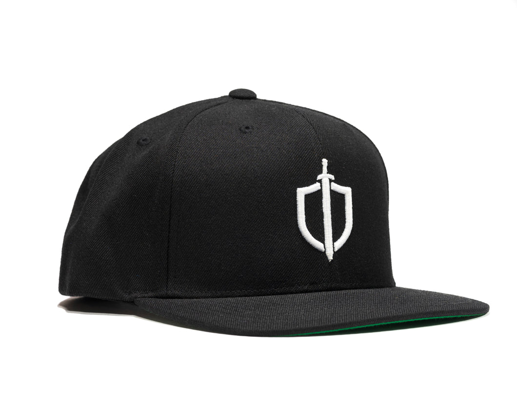 Shield Logo Snapback - Black