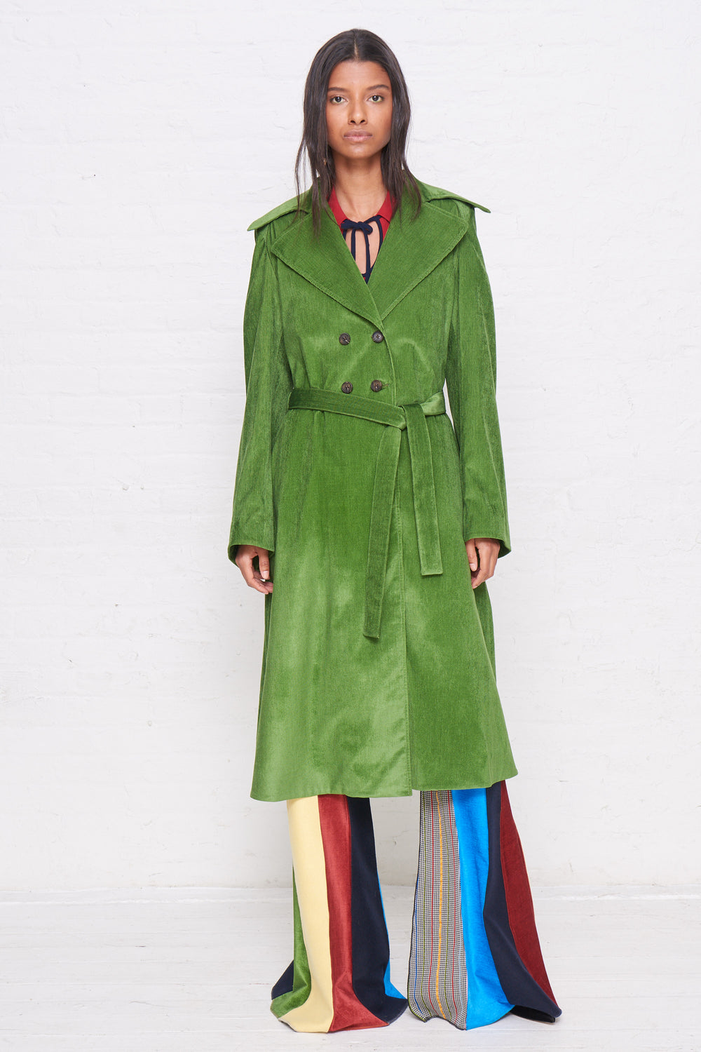 Piano Pleats Trench Coat