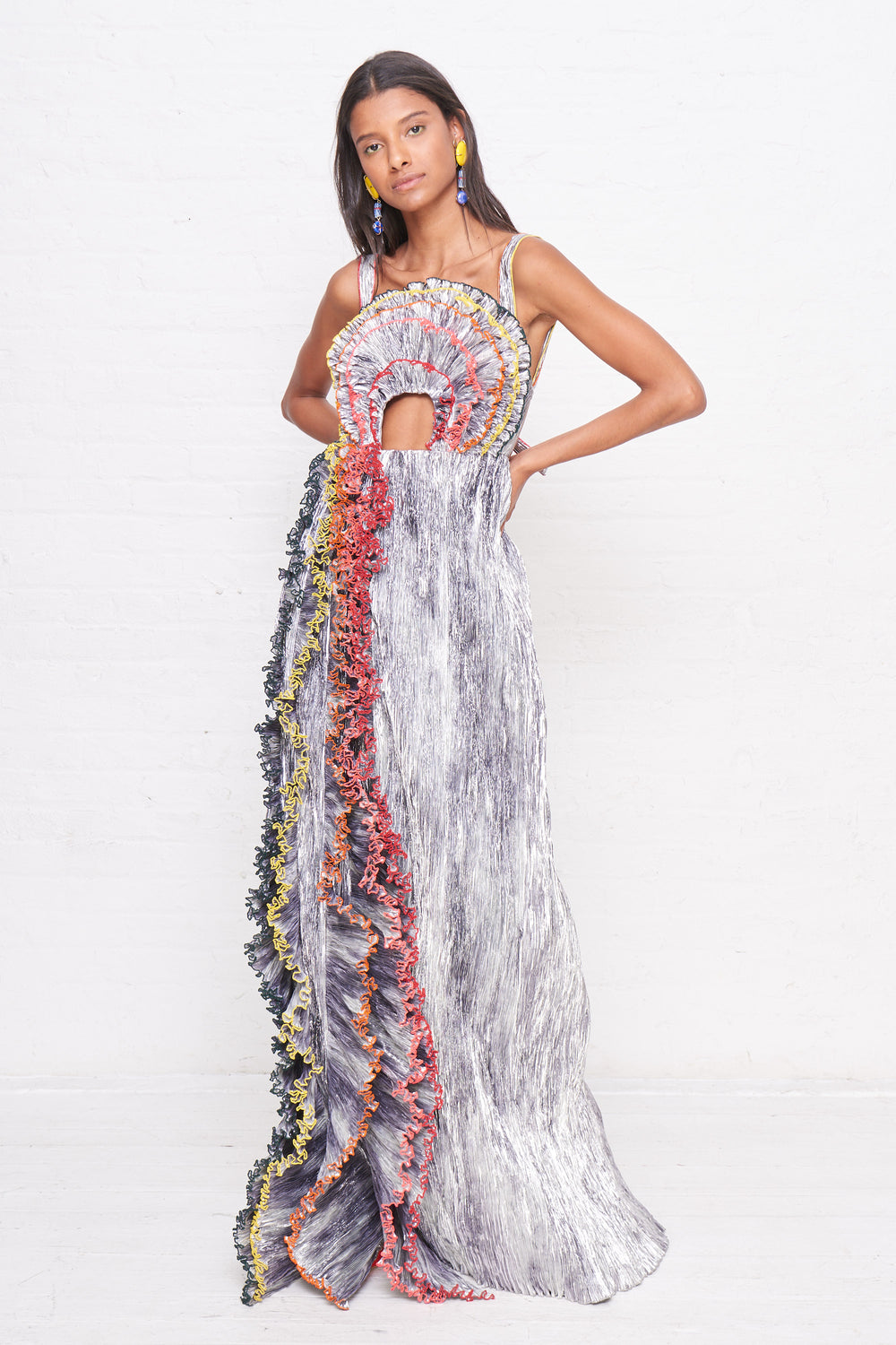 Pleating Rainbow Gown