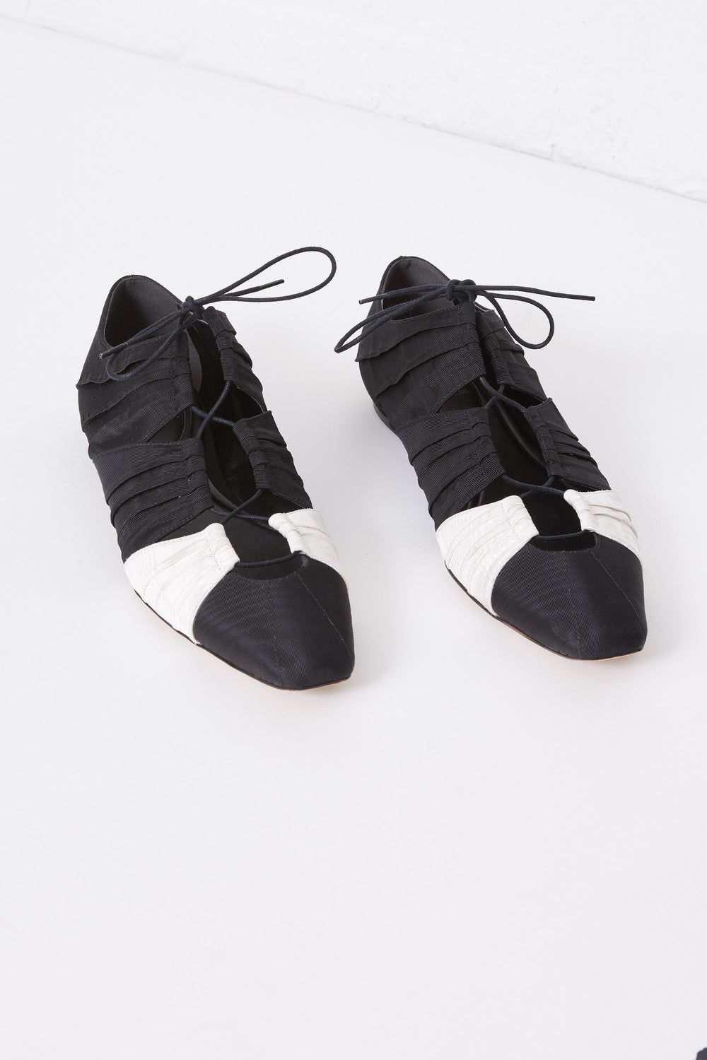 Lace-Up Ballet Bootie