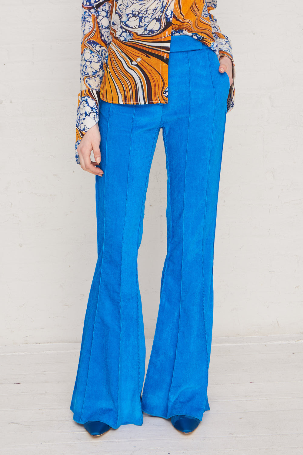 Pleated Flare Pants