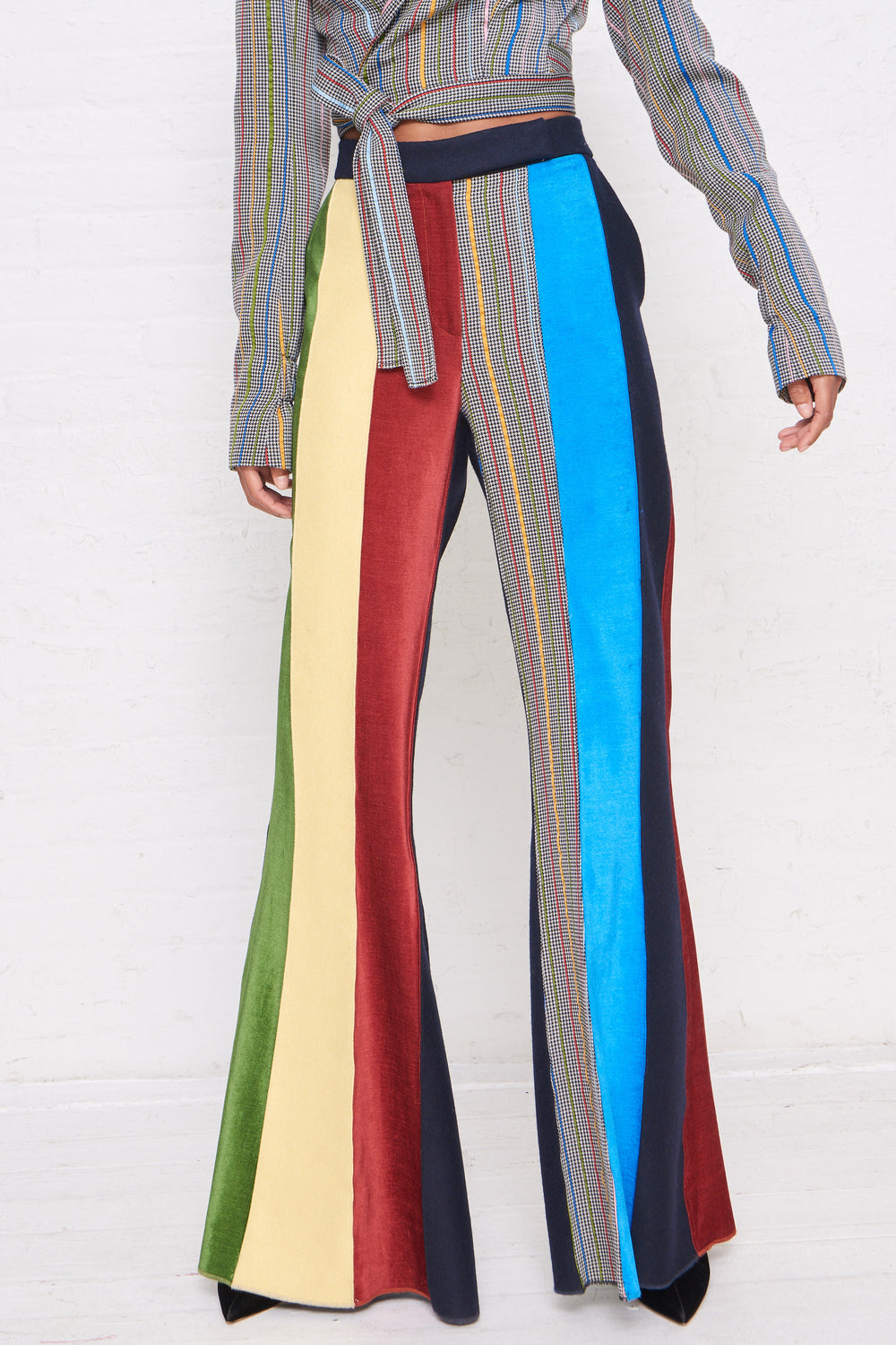 Patchwork Flared Pant
