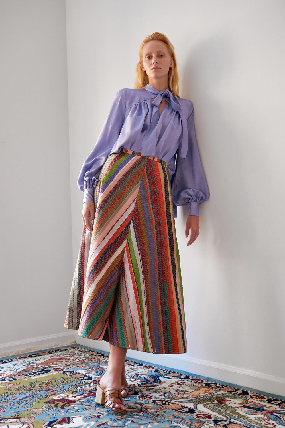Melted Rainbow A-Line Skirt