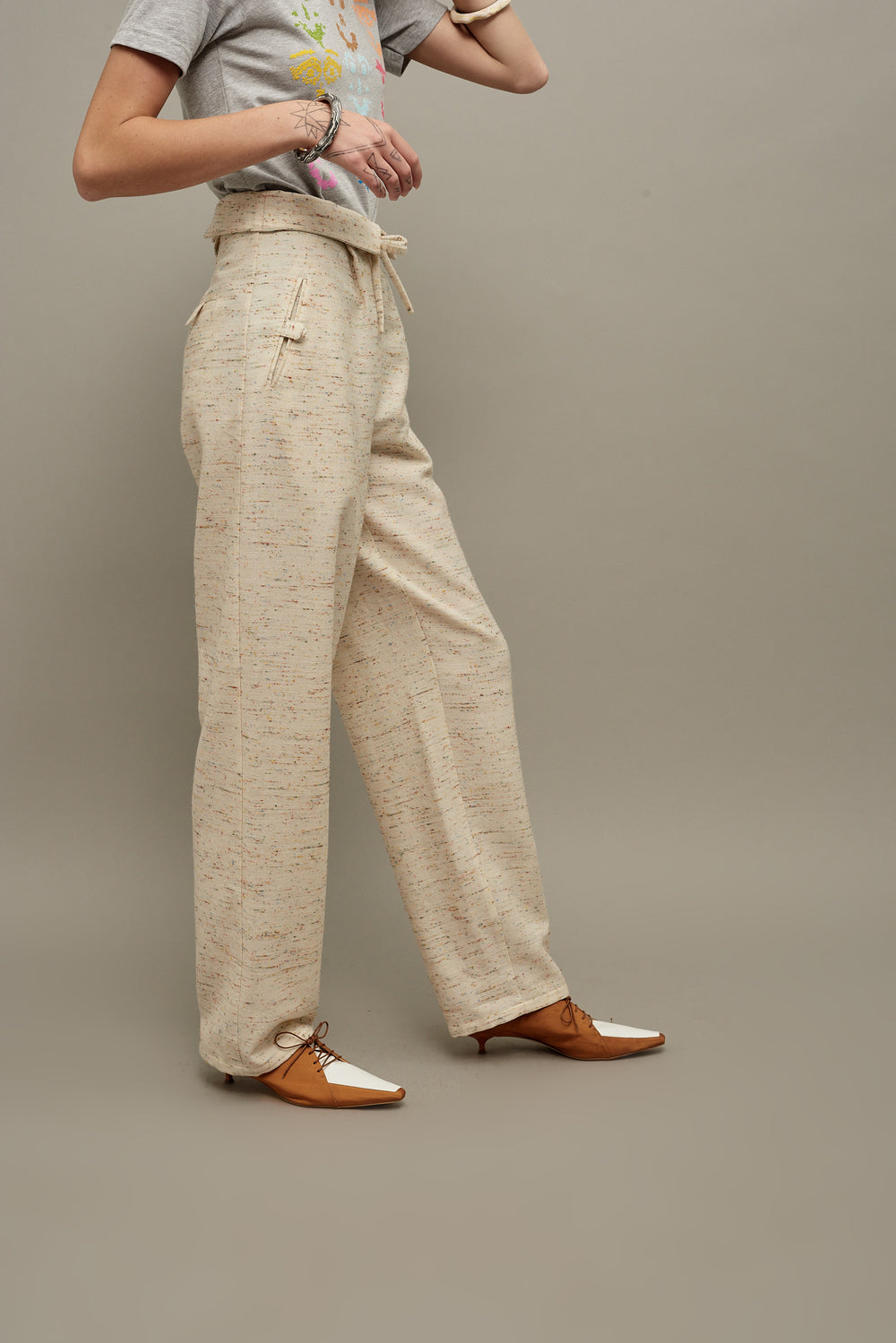High Waisted Belted Pant