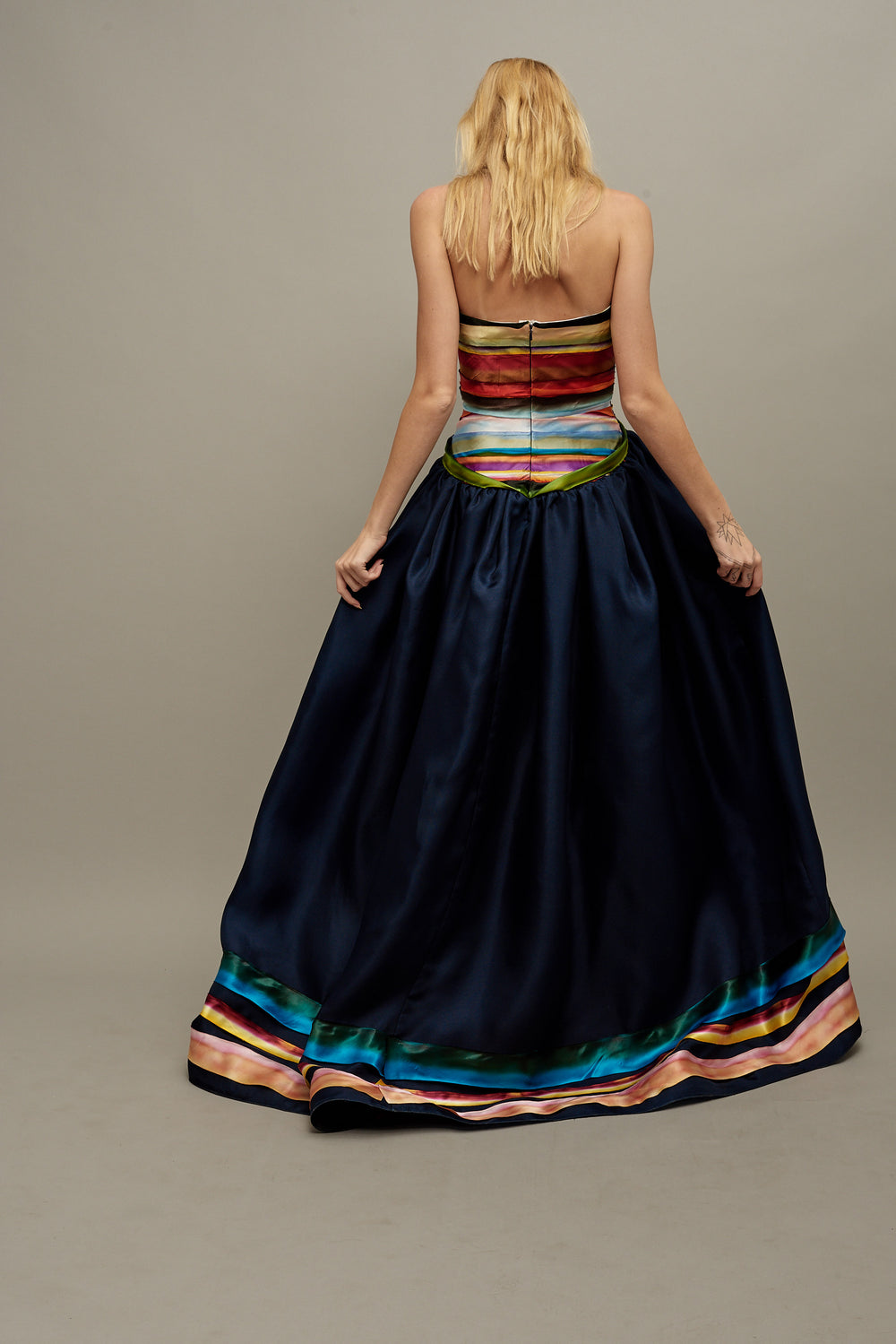 Midnight Rainbow Gown