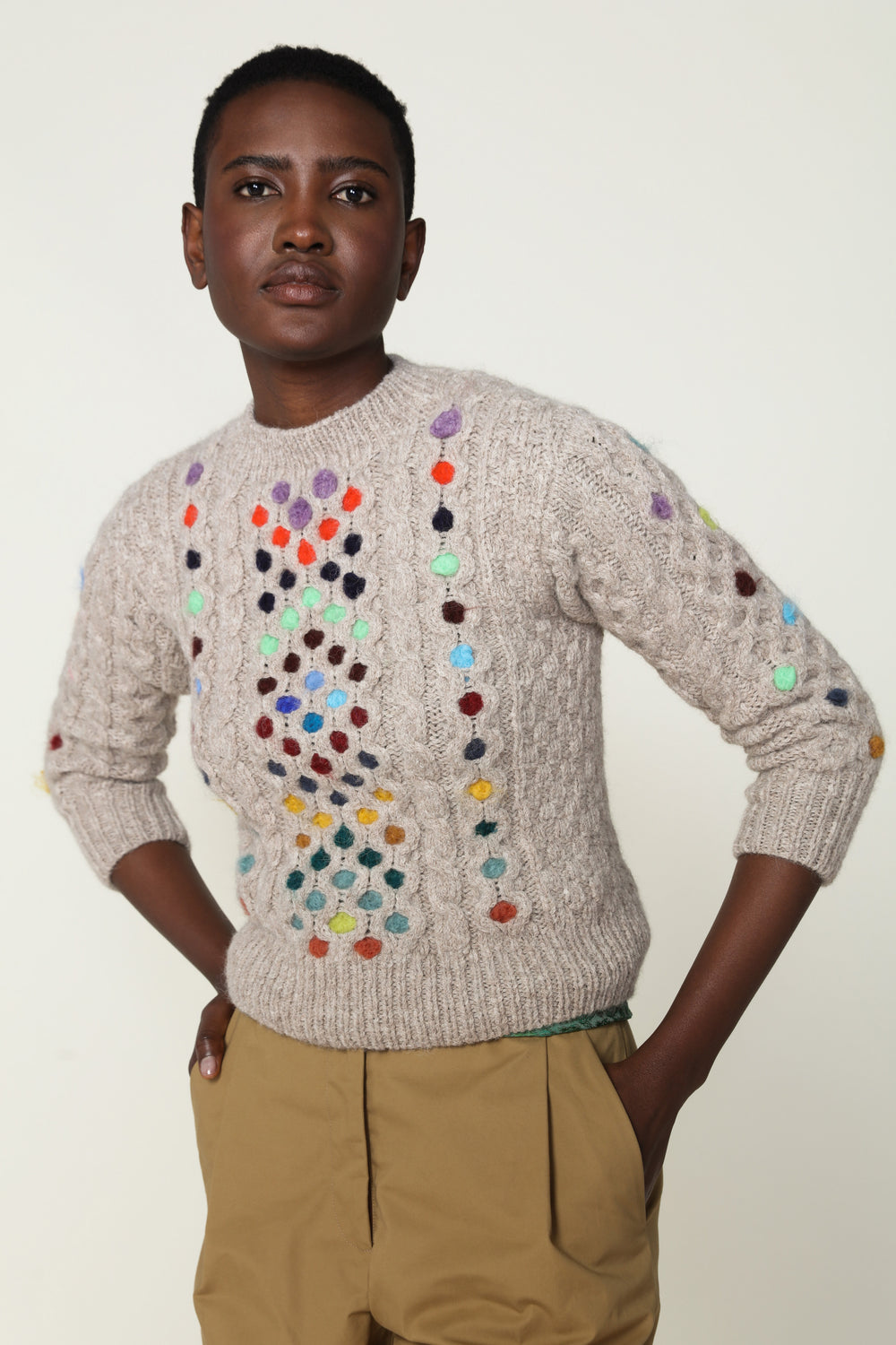 Felted Polka Dots Sweater