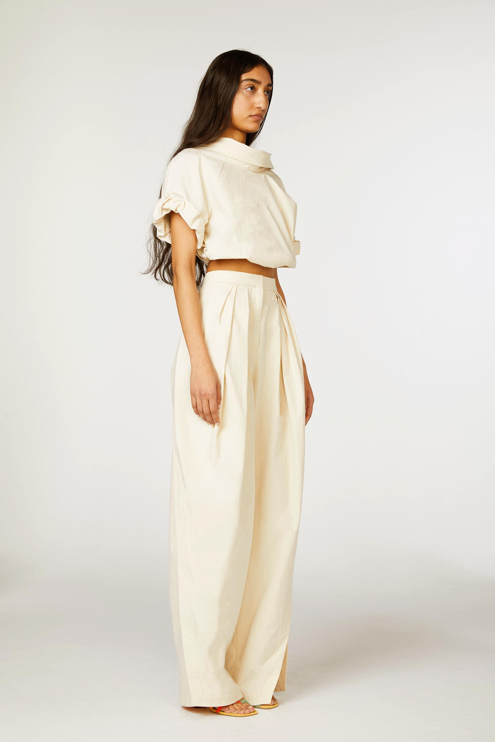 Pleated Asymmetrical Pant