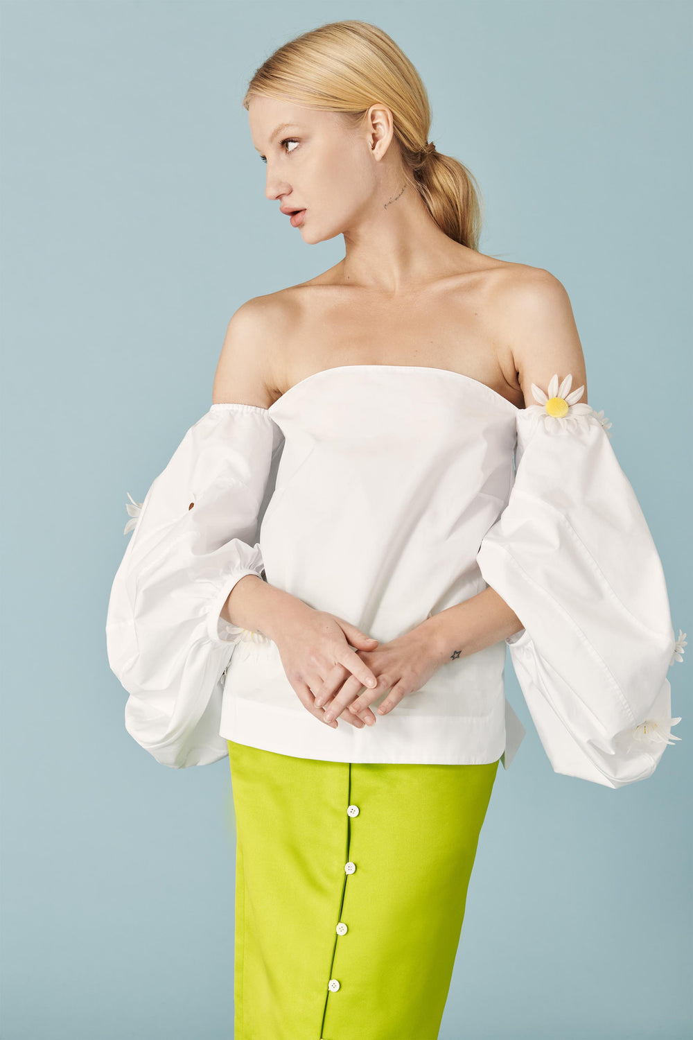 Daisy Balloon Sleeve Top