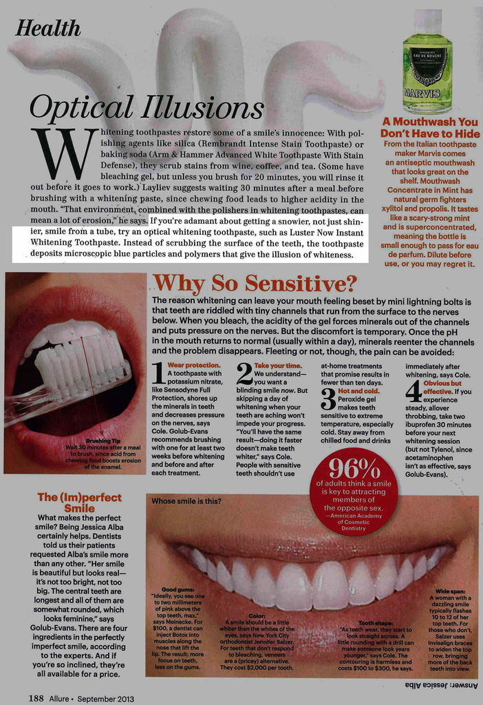 Luster Premium White Featured in Allure – September 2013