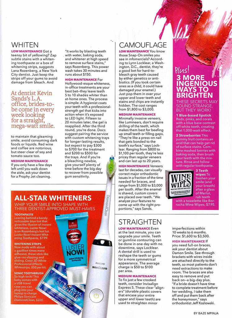 Luster Premium White Featured in Brides – October 2013