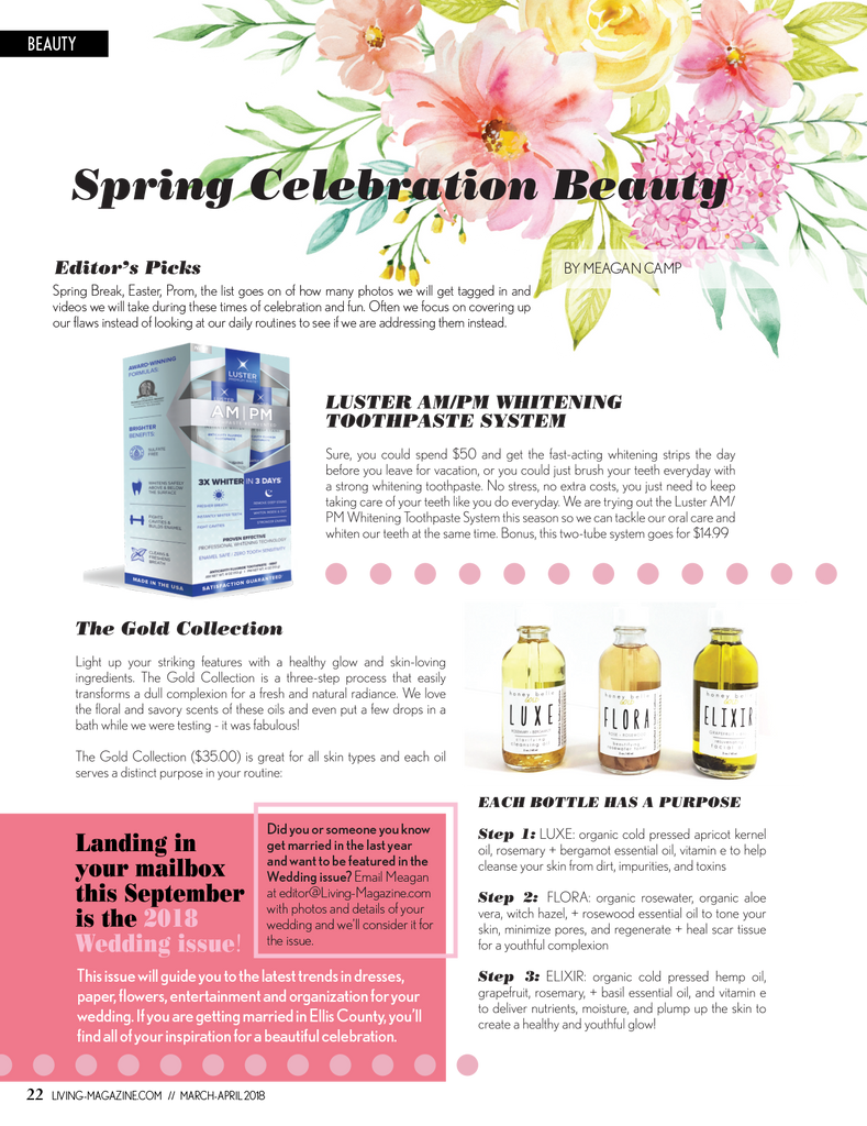 Luster Premium White Featured in Living Magazine – March/April 2018