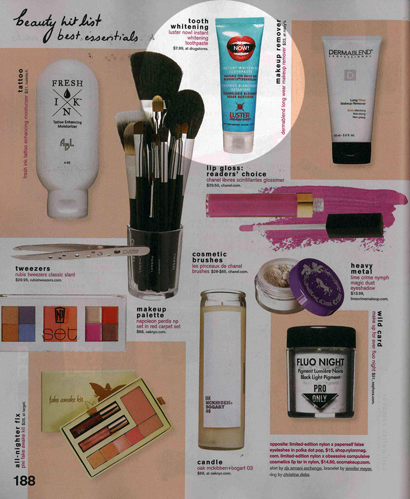 Luster Premium White Featured in Nylon – September 2012