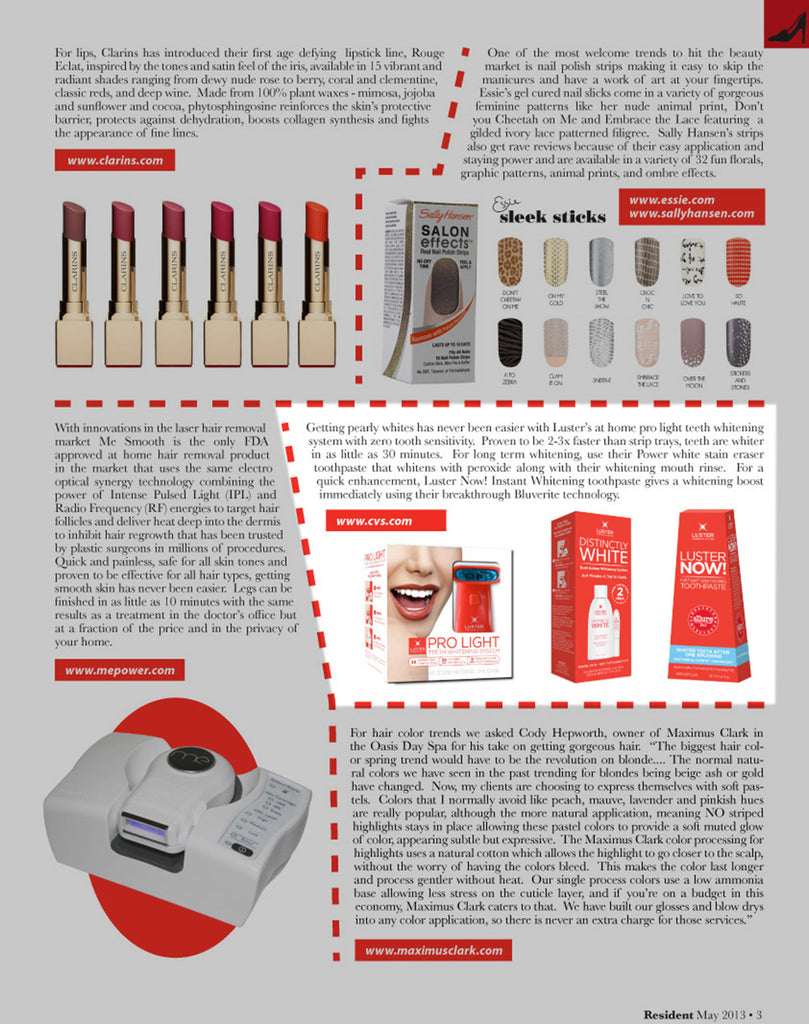 Luster Premium White Featured in Resident Magazine – May 2013
