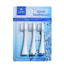 Luster Power White Pro™ Sonic Toothbrush Replacement Brush Heads - 3 pack