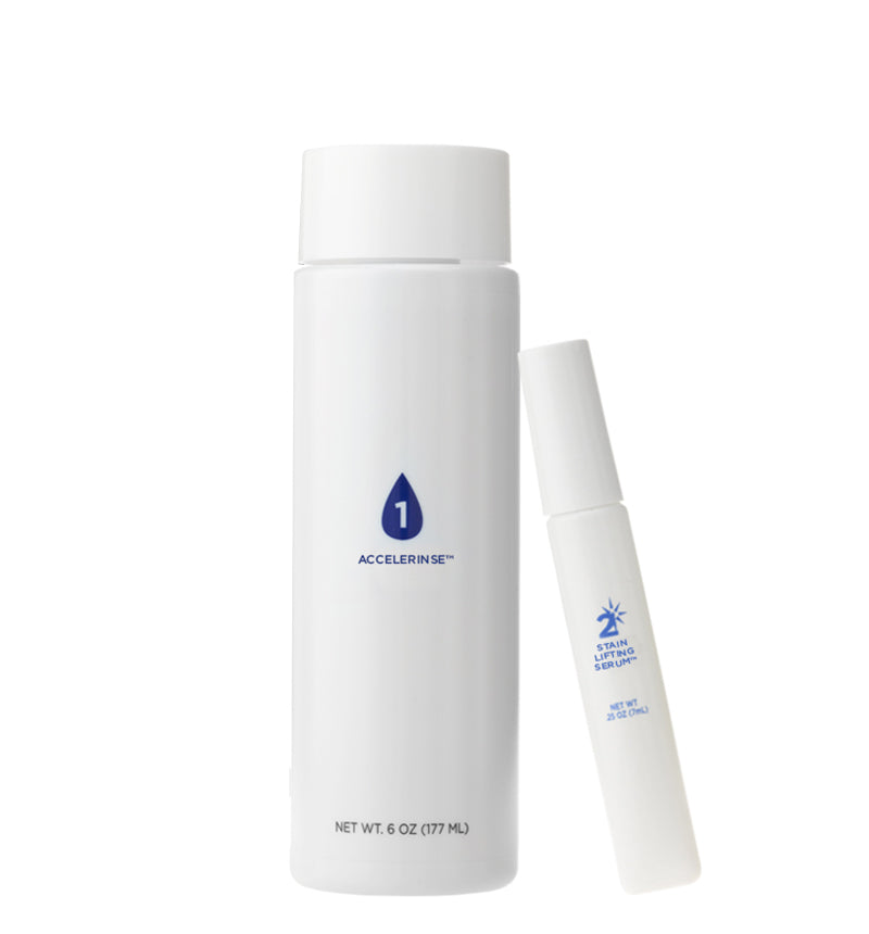 2-Minute White Treatment Kit - Contains Accelerinse & Stain Lifting Serum