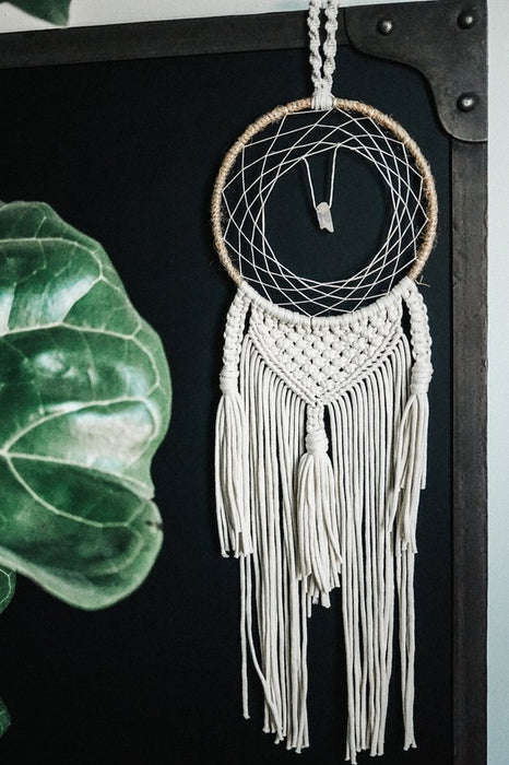 Aura Quartz Macrame Dreamcatcher