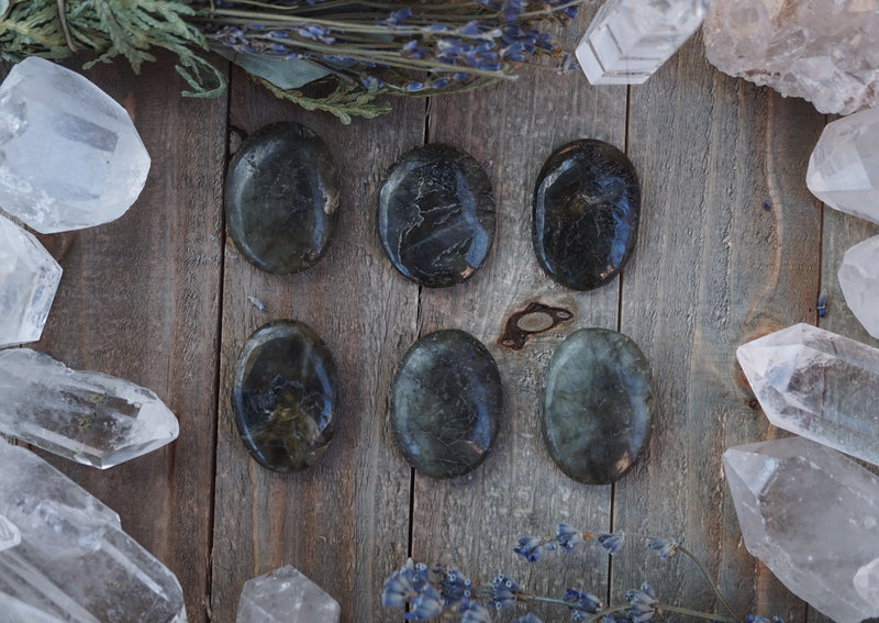 Labradorite Worry Stone Home Decor