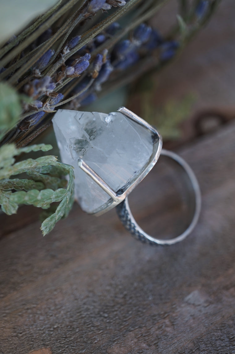 Apophyllite Sterling Silver Ring