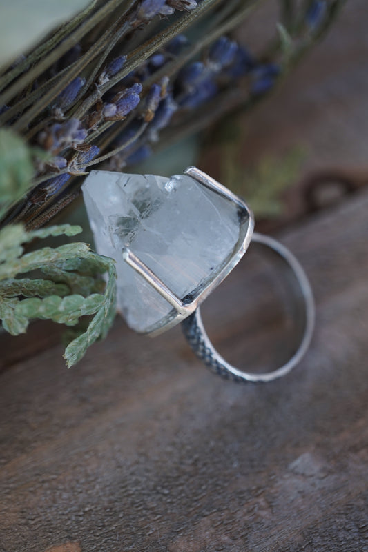 Apophyllite Sterling Silver Ring Sterling Silver