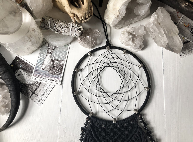 Black Skull Dream Catcher