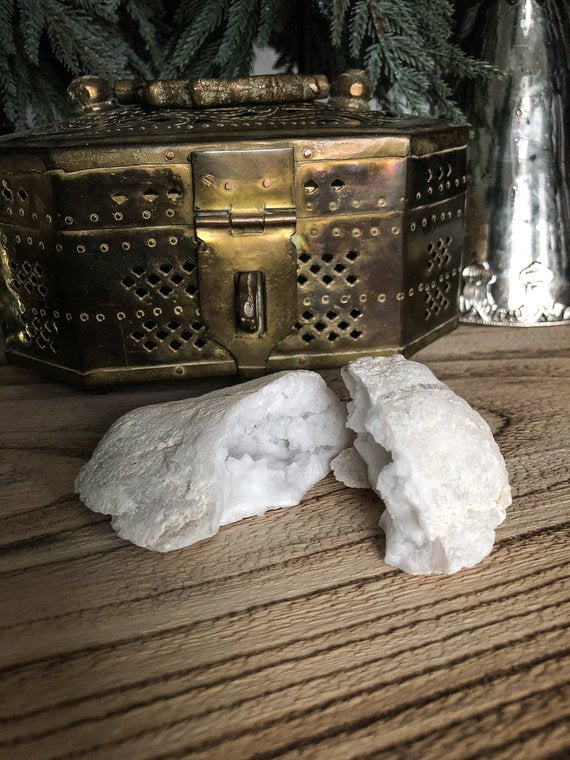 White Crystal Geode