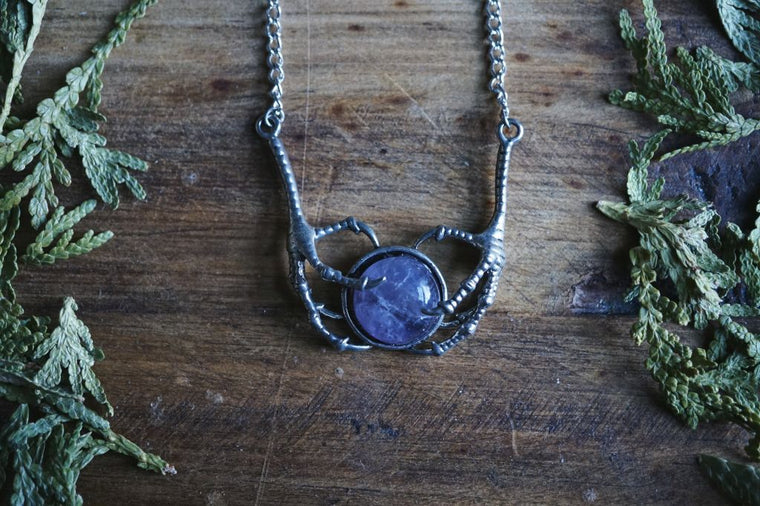 Amethyst Claw Necklace
