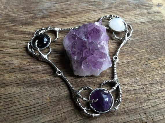 Amethyst Claw Necklace Necklace