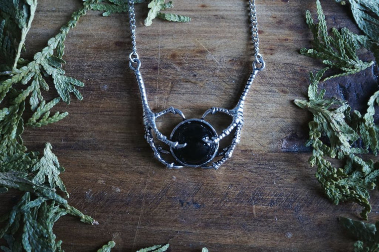 Black Onyx Claw Necklace