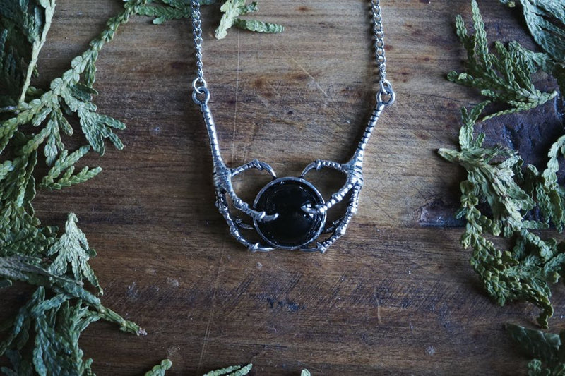 Black Onyx Claw Necklace Necklace