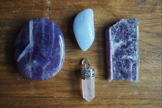 Calming Stones Healing Pouch Home Decor