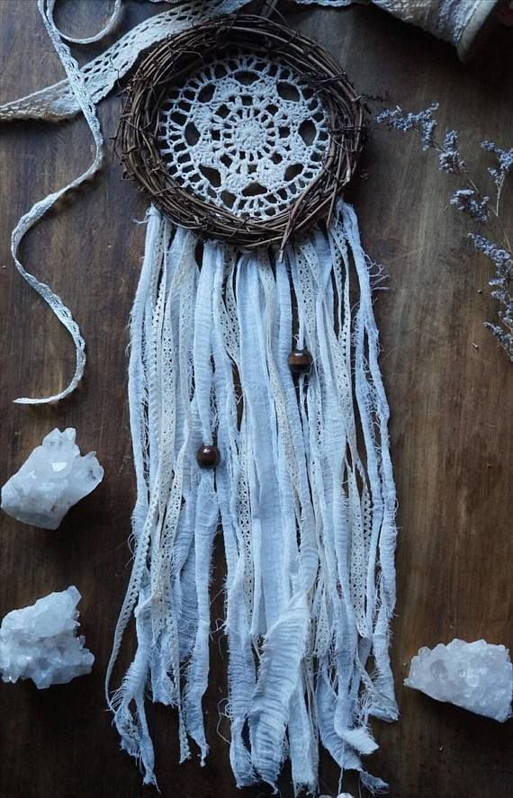 Doily Dreamcatcher - Boho Decor Home Decor