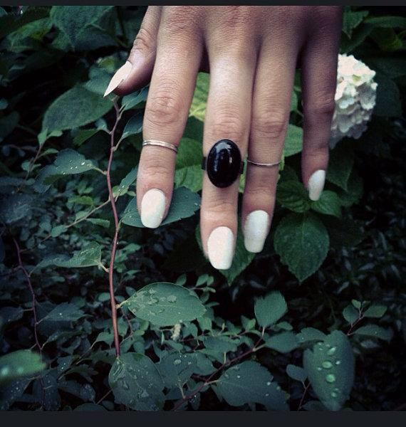 Knuckle Duster Black Onyx Brass Adjustable Midi Ring Ring