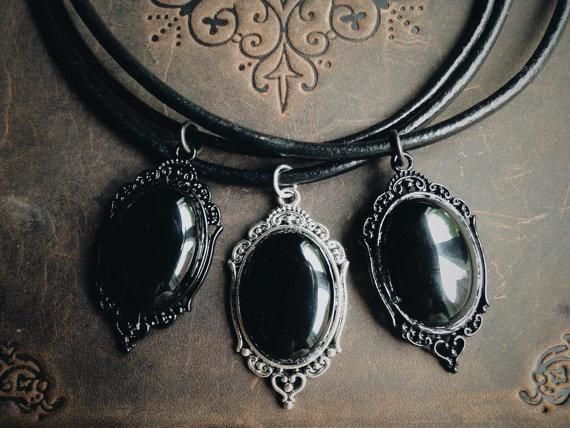 Pitch Black Onyx Necklace Necklace
