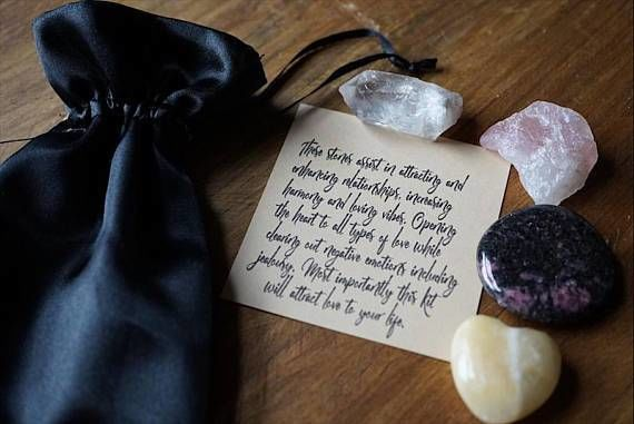 Romance Crystal Pouch - Healing Crystals Home Decor