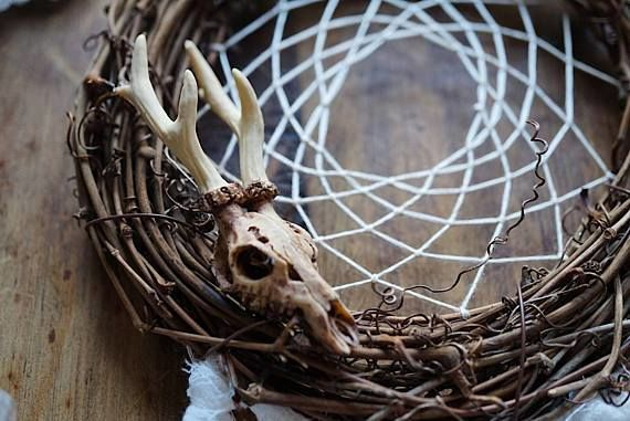 Rustic Skull Dreamcatcher Home Decor