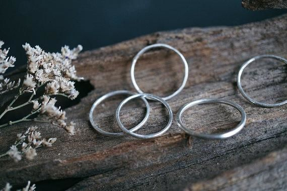 Sterling Silver Midi Rings Sterling Silver
